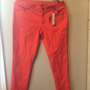 Pants - Orange skinny jegging stretch pants sz L